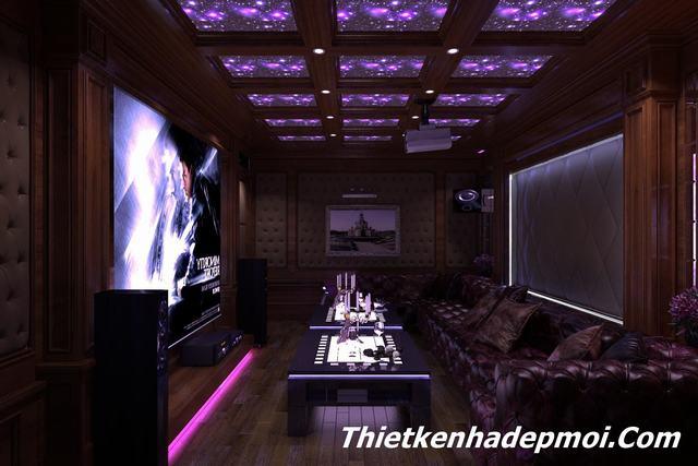 Thiết kế phòng karaoke gia đình ms hà