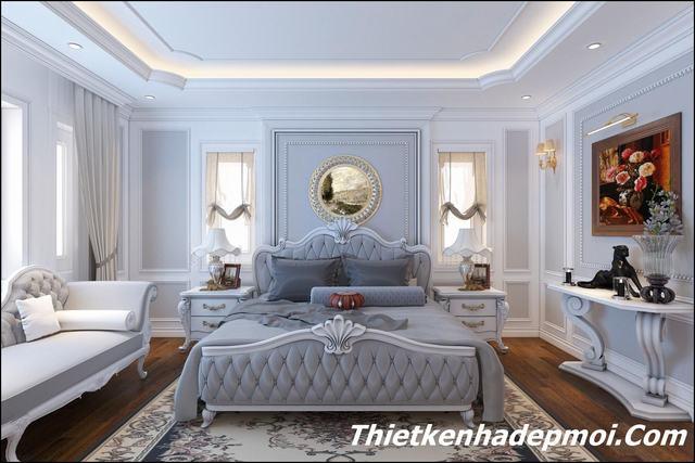 Mẫu phòng ngủ tân cổ điển 60m2