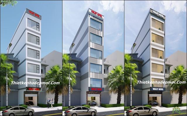 Thiết kế khách sạn 6 tầng 5x20m