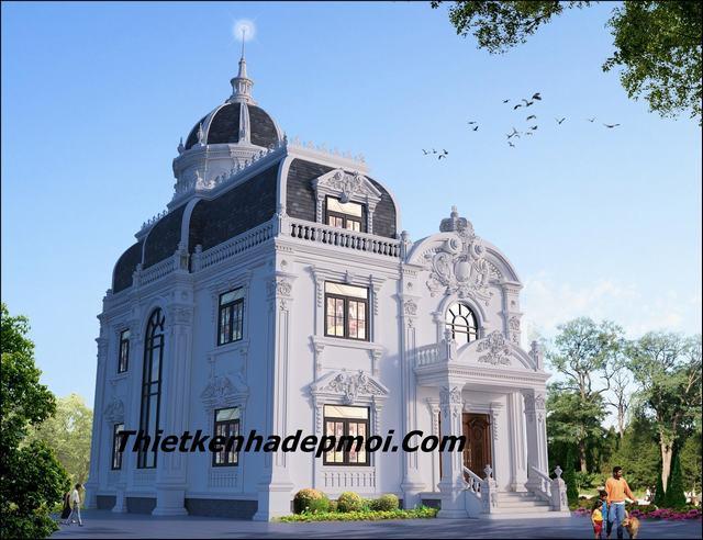 Mẫu biệt thự cổ điển 2 tầng 1 tum tại Nghệ An