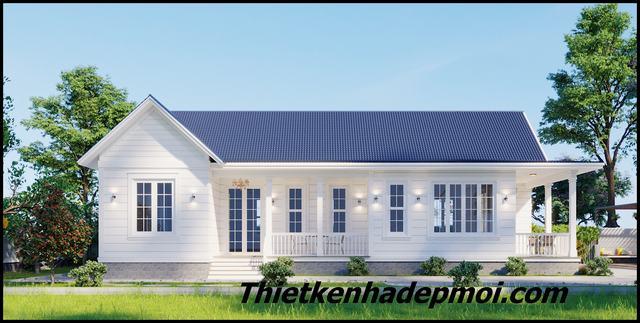 Tư vấn xây nhà vườn 1 tầng mái thái giá rẻ