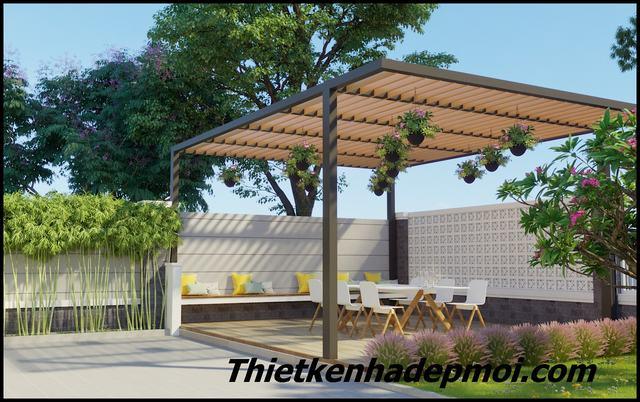 thiết kế nhà vườn cấp 4 ở nông thôn