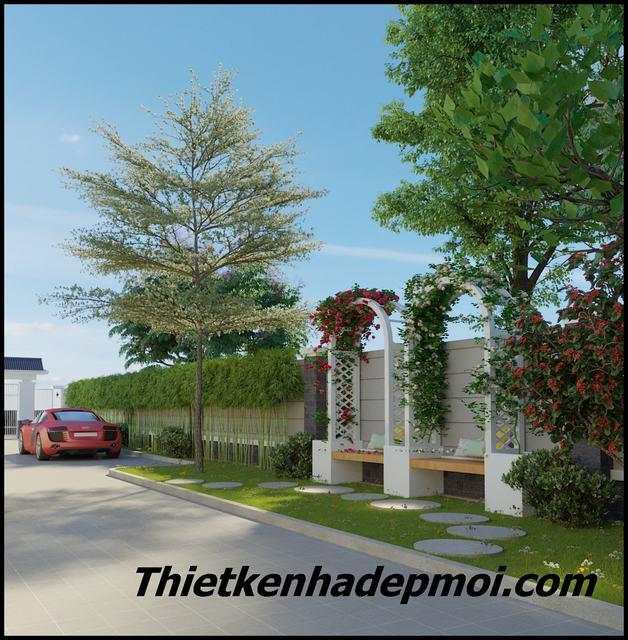 Thiết kế nhà vườn ở nông thôn 3 phòng ngủ