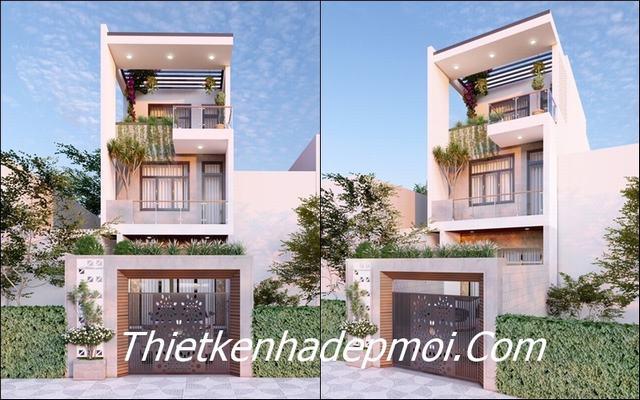 thiết kế nhà 5x15m