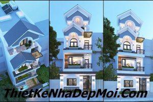 Mẫu nhà phố 3 tầng 1 tum 5x20m thiết kế đẹp