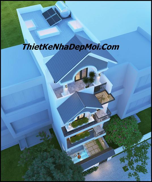 Mẫu nhà 3 tầng 5x20m đẹp