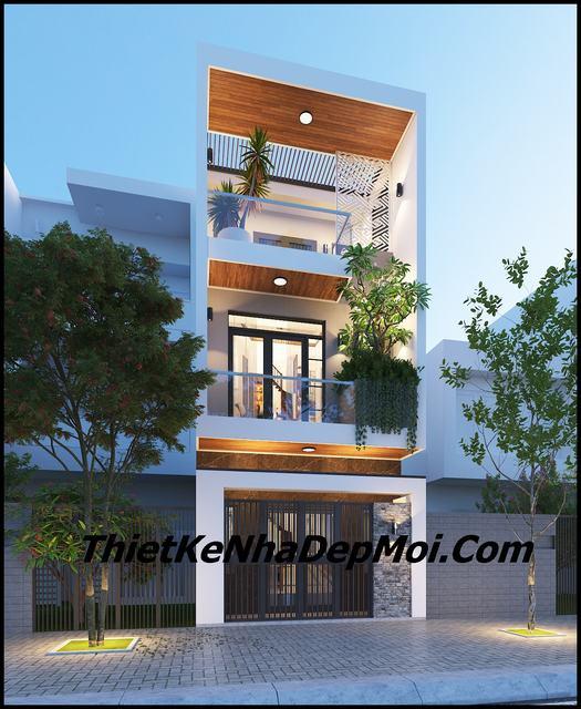 Thiết kế nhà phố 4x13