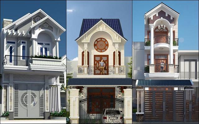 mẫu nhà phố 2 tầng mái ngói mặt tiền 5m