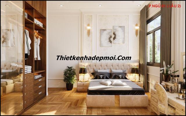 Nội thất phòng ngủ master nhà phố
