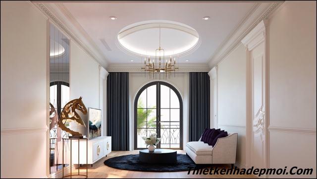 phong cách nội thất phòng khách hiện đại 2020