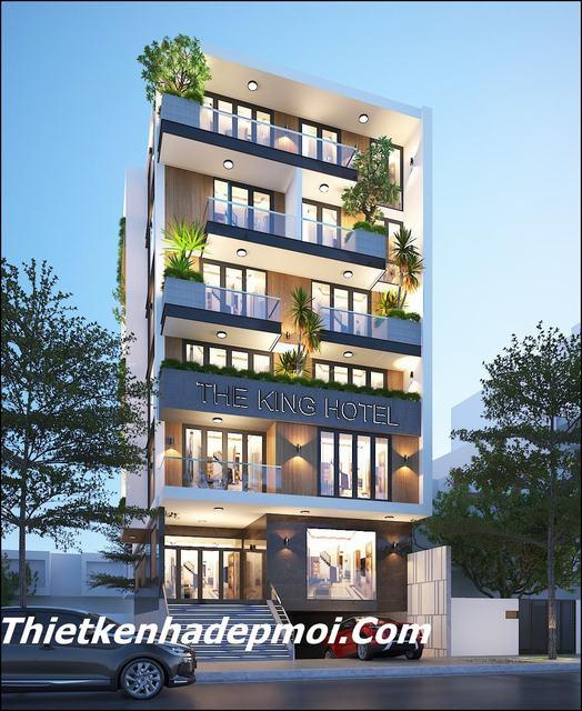 thiết kế khách sạn mini hiện đại 3 sao 7 tầng