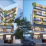 thiết kế khách sạn mini 200m2, Mặt tiền thiết kế khách sạn mini 200m2 hiện đại 7 tầng anh Hùng Dĩ An, Công ty thiết kế xây dựng Nhà Đẹp Mới, Công ty thiết kế xây dựng Nhà Đẹp Mới