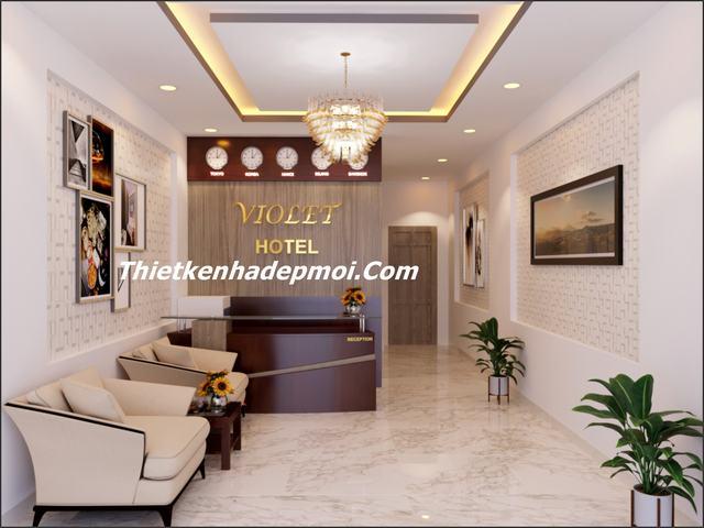 thiết kế nội thất khách sạn mini 5x20