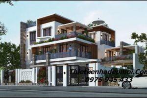 Thiết kế biệt thự 3 tầng đẹp 150m2