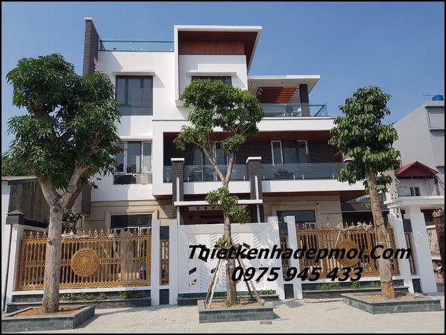 xây biệt thự 3 tầng đơn giản hiện đại