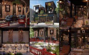 thiết kế quán cafe phố vườn 2 tầng