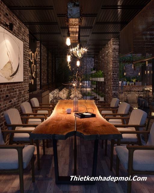 mẫu thiết kế quán cà phê phố vườn đẹp 2020