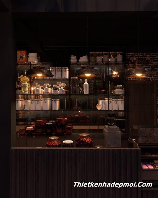 Thiết kế quầy bar quán cafe bình dân