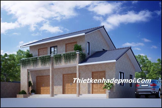 Nhà có gác lửng đơn giản nông thôn