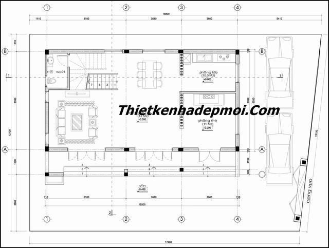 xây nhà cấp 4 có gác lửng đơn giản