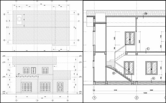 thiết kế nhà cấp 4 có gác lửng 3 phòng ngủ giá rẻ
