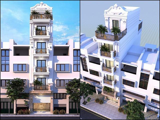 Kết cấu nhà phố 6 tầng