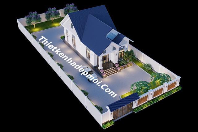 nhà mái thái đẹp cấp 4 nông thôn