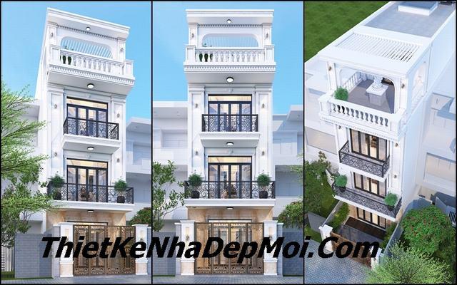 Kiến trúc nhà phố tân cổ điển 3 tầng