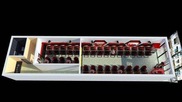 thiết kế phòng net 30 máy