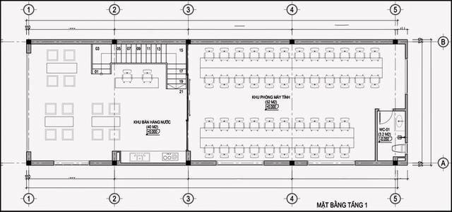 sơ đồ thiết kế phòng net