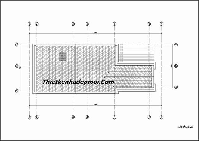 Bản vẽ thiết kế biệt thự 3 tầng ngang 8m