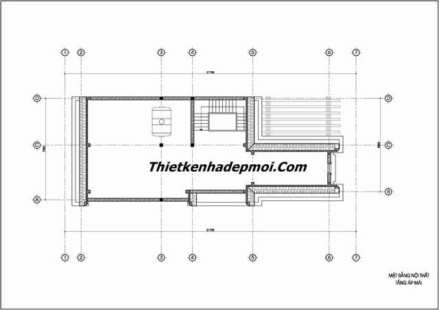 Bản vẽ cad biệt thự 3 tầng mới