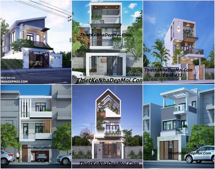 Các bản vẽ thiết kế nhà 5x17m 1 trệt 1 lầu sân thượng và 2 tấng 1 tum 1 tum 85m2