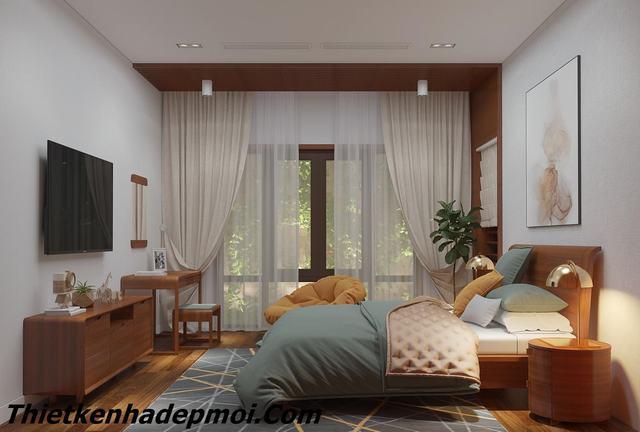 Thiết kế phòng ngủ gỗ 2020