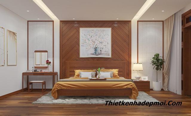 thiết kế phòng ngủ 27m2 biệt thự