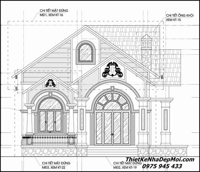 Thiết kế nhà vườn 1 tầng kiểu châu âu