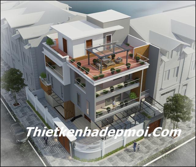 mẫu nhà 3.5 tầng 2 mặt tiền