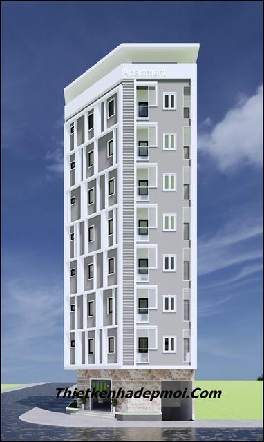 Thiết kế căn hộ cho thuê cao tầng 175m2