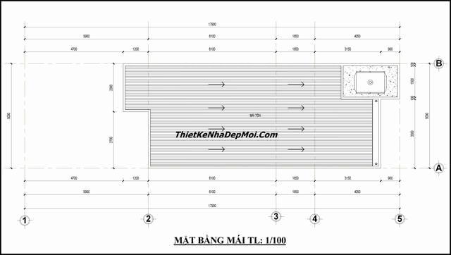 Thiết kế nhà ống 2 tầng đơn giản 5x14
