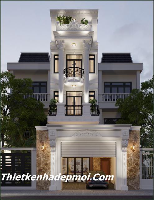 Cách thiết kế nhà mặt tiền 4m 3.5 tầng