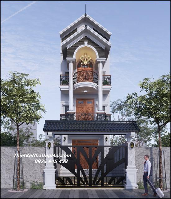 nhà đẹp rộng 5m dài 20m 3 tầng mái ngói