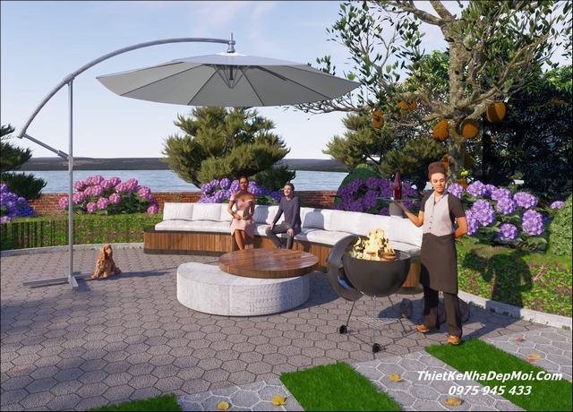 Thiết kế nhà vườn trệt đẹp 2021