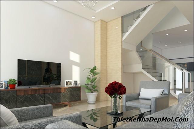 Thiết kế nội thất nhà ống có tầng bán hầm