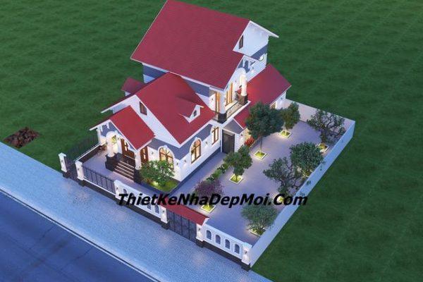 Thiết kế nhà vườn mái thái đẹp ở quê