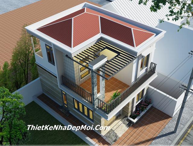 Mẫu nhà phố 2 tầng 7x10