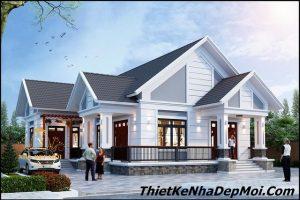 biệt thự 1 tầng mái thái, Mẫu nhà 1 tầng mái thái đẹp ở quê nông thôn 2020 chú Điều, Công ty thiết kế xây dựng Nhà Đẹp Mới, Công ty thiết kế xây dựng Nhà Đẹp Mới
