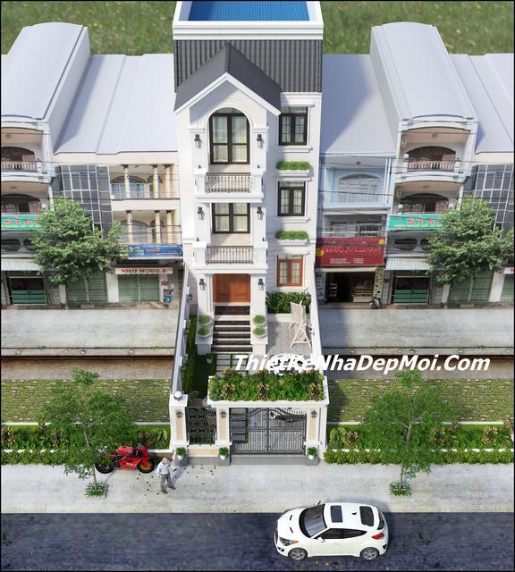 Tư vấn xây nhà 2.5 tầng hiện đại 6m
