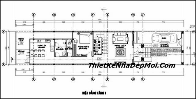 Tư vấn thiết kế nhà 6m có gara ô tô