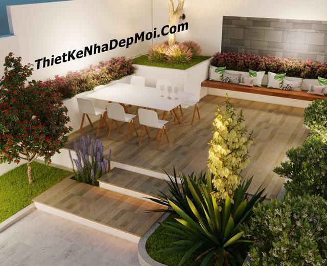 Đơn giá thi công sân vườn nhà đẹp ở Nam Bộ