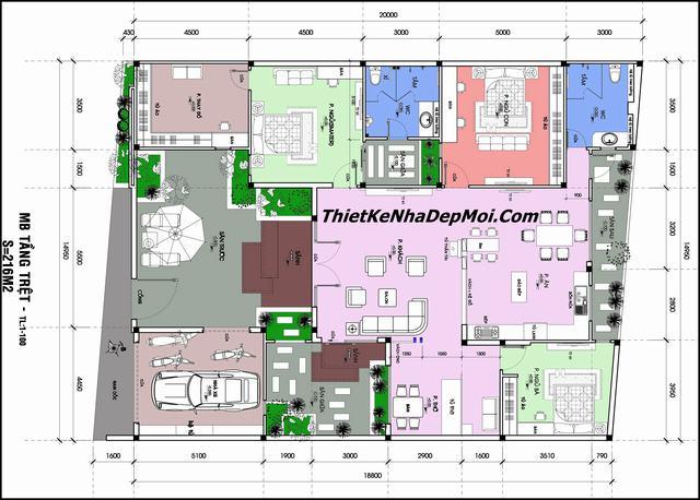 Không gian nội thất đẹp nhà cấp 4 hiện đại 2020